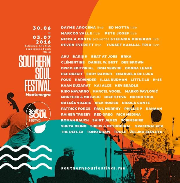 Southern Soul Festival: Konačan spisak izvođača